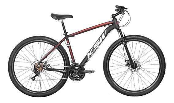 Bicicleta Aro 29 Ksw Aluminio A Disco 21v Câmbios Shimano