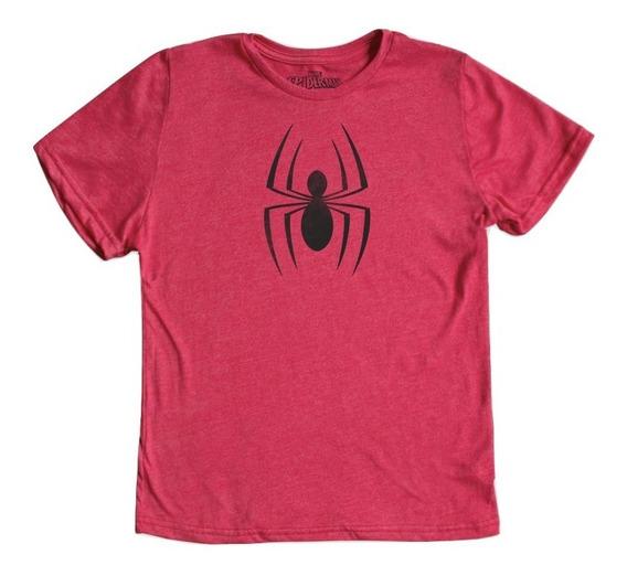 Playera Spider-man Logo Niño Mascara De Latex Marvel