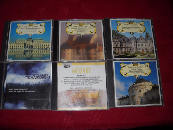 Lote 6 Cds De Musica Clasica ..beethoven, Chopin, Mozart,