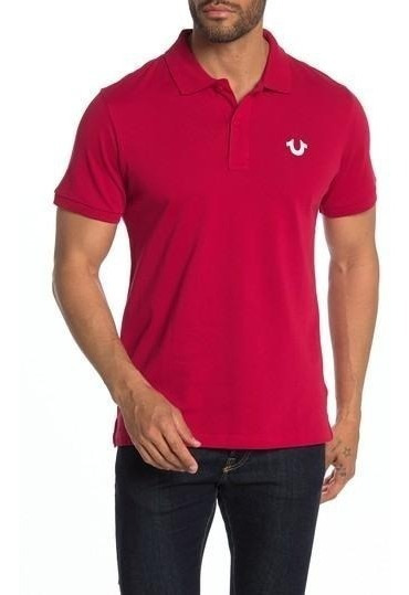 Playera Polo True Religion Hombre Original Roja