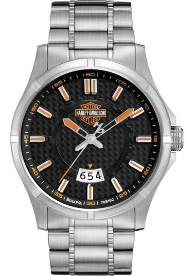 Relógio Bulova Masculino Harley Davidson Wh30055t Analogico