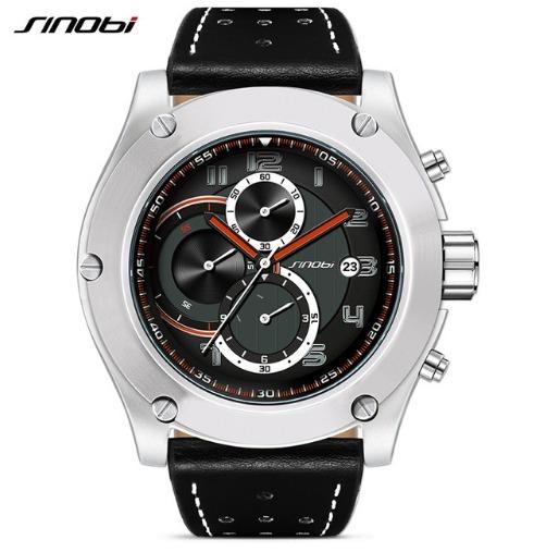 Relógio Masculino Sinobi Preto 9648 Cronografo