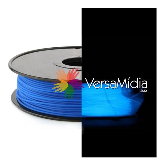 Filamento Pla Brilho No Escuro Versamídia3d 1.75 Black Spool