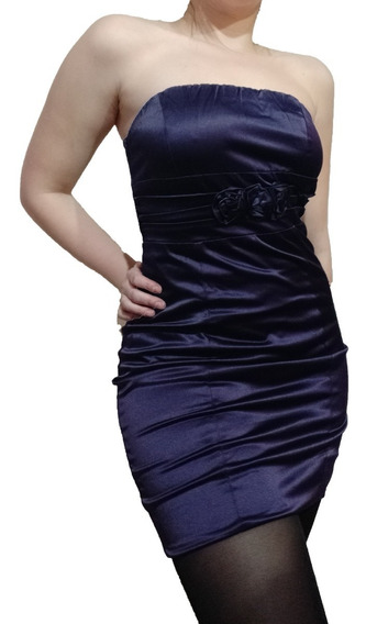 Vestido Strapless Con Cierre Elegante Fiesta Eventos