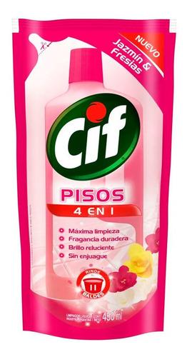 Cif Pisos 4 En 1 Aroma Jazmin & Fresias Doy Pack 450 Ml