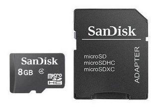8gb Cartão Memória Micro Sandisk Lacrado Original Carta Li@