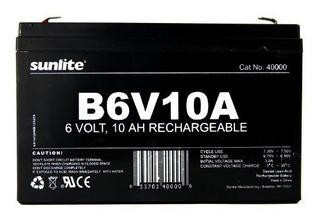 Sunlite 40000su B6v10a 10amp Hour Bateria De Respaldo De Eme