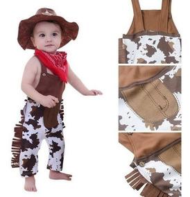 Roupa Bebê Conjunto Fantasia Cowboy Sherife Festa Importado