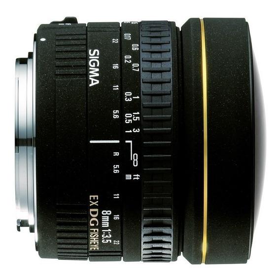 Lente Sigma - 8mm F/3.5 Ex Dg Circular Fisheye - P Nikon