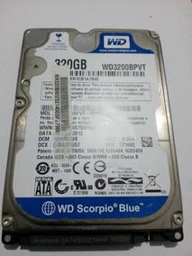 Hd Notebook 320gb Sata Wd3200bpvt (com Defeito)
