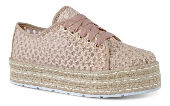 Tênis Flatform Renda Feminino Prime Shoes Casual Dia A Dia