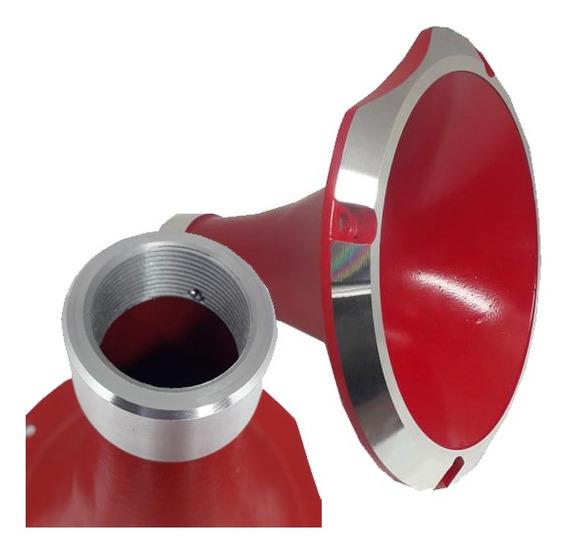 Cone Cromado Curto Rosca Padrão Jbl Uso D250x Vermelho