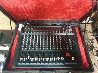 Consola De Sonido American Pro Black 12 Con Estuche!!