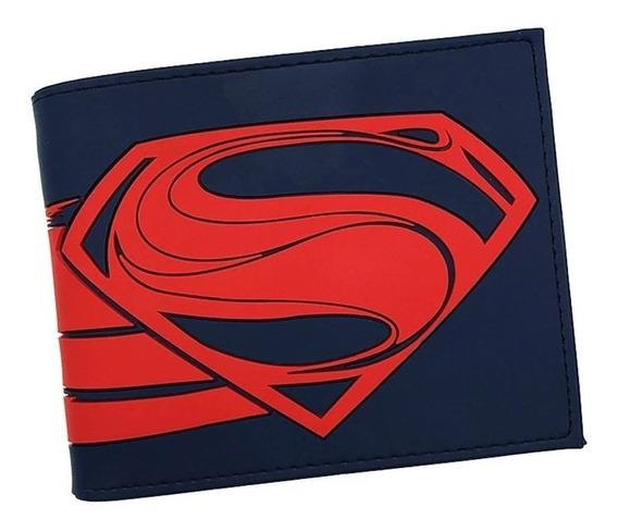 Cartera Gamer Juvenil Geek Dc Superman Man Of Steel A82