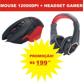 Mouse Gamer C3 Tech 12000dpi + Headset Gamer Promoção