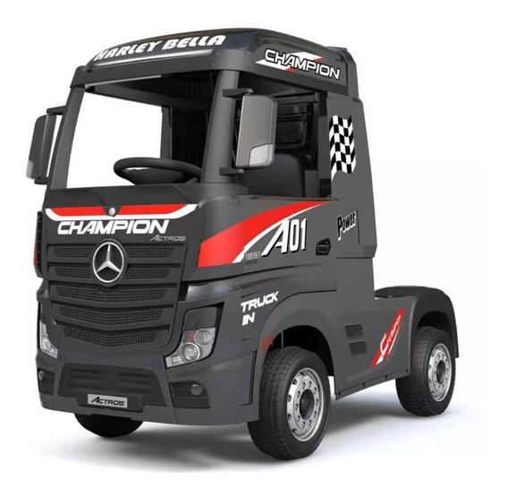 Mercedes Benz Camión Negro A Batería Hl358 Ng