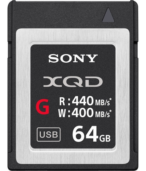 Memoria Xqd Sony 64gb Qd G Series 440mb/s Lacrado Original