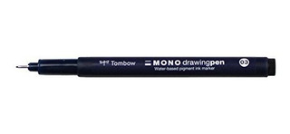Tombow, Mono Drawing Pen, 03 Tip Size, Paquete De 12 Piezas.
