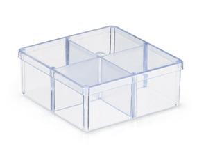 100 Caixa Acrílico 7x7 Organizadora Divisórias Lembrancinha