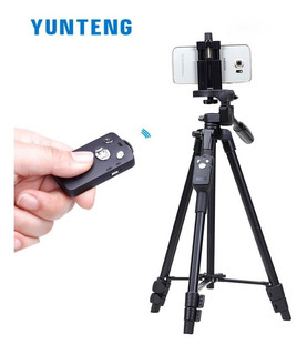 Trípode Yunteng Vct 5208 + Control Bluetooth + Estuche Prot.