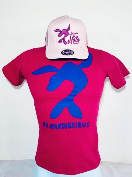 Combo Camisa Pink Luccas Neto + Bone Rosa Feminino R$70,00
