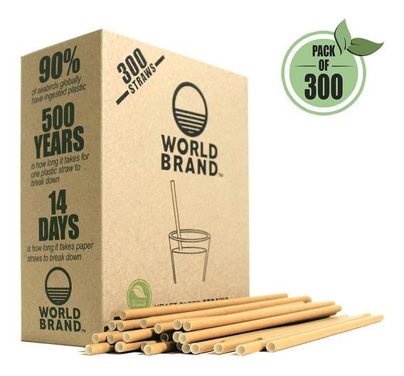 Popotes Pajillas Ecologica Biodegradable Composta Pack 300