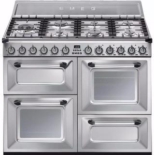 Cocina Mixta Smeg Tr4110x Ar Anafe A Gas Y Horno Eléctrico