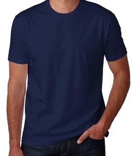 7 Camisetas Marinho Pv Malha Fria 67% Poliéster 33% Viscose