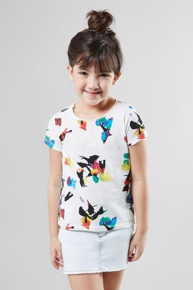 Camiseta Full Passaros Manchados Reserva Mini