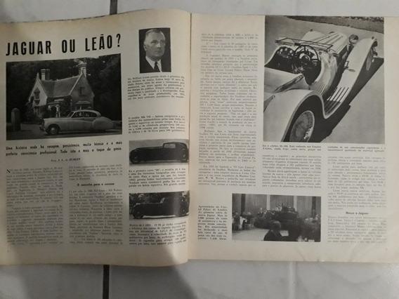 Revista 1955 Capa Fiat 1900 A ) Jaguar Ss 100 Xk Ford Burlet