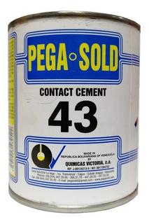 Cemento De Contacto Pega Sold 43 Pega Amarilla 1/8 Galon