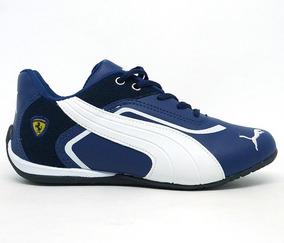 Kit 10 Tênis Puma Ferrari New Azul Marinho