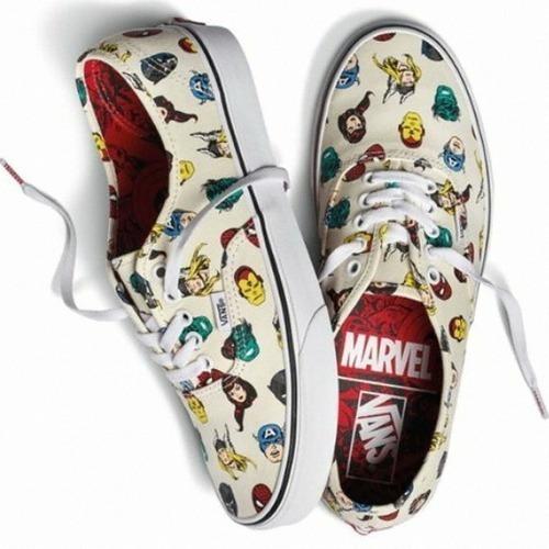 Tenis Vans Authentic X Marvel Avengers Cabezas Ironman Thor