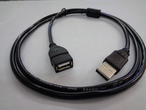 Cable Usb 2.0 Extension 1.5metros Macho A Hembra Por 5 Unida
