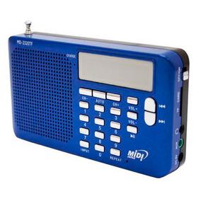 Radio Portatil Midi Japan Md-2320tf Azul Entrada Microsd