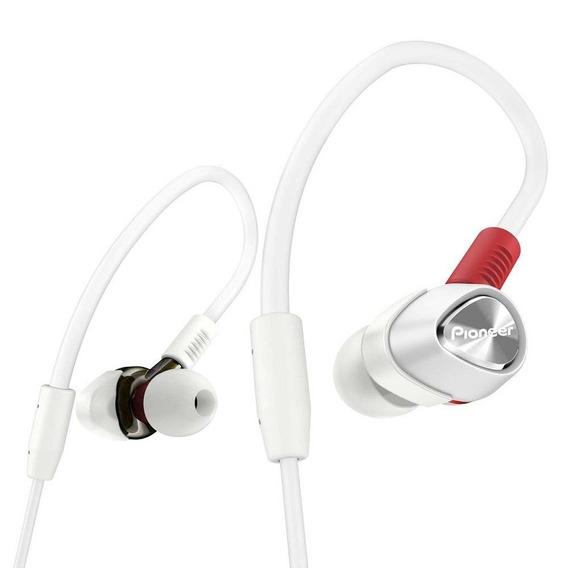 Fone De Ouvido Pioneer Dje2000w Branco Vermelho