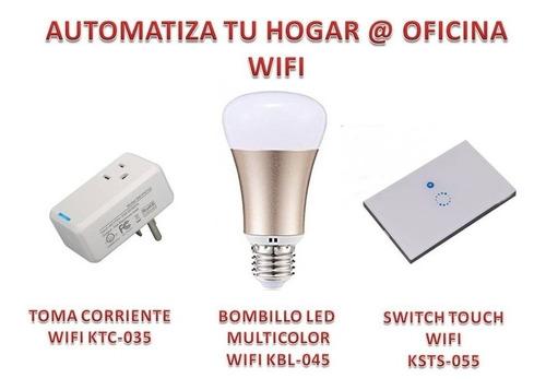 Wifi, Bombillos Led, Switch, Toma Corrientes