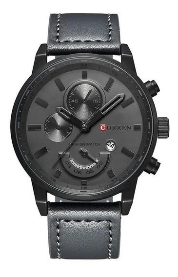 Relógio Masculino Original Curren 8217 Pulseira De Couro