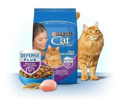 2 Alimento Croquetas Cat Chow Adultos Peso Saludable 1.5kg