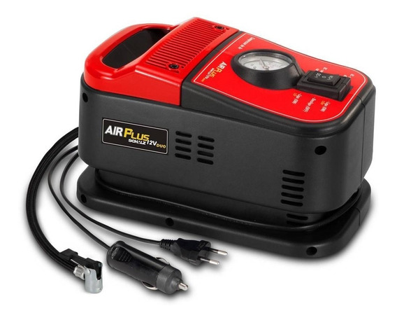 Mini Compressor De Ar 12v Duo Air Plus 110v - Schulz
