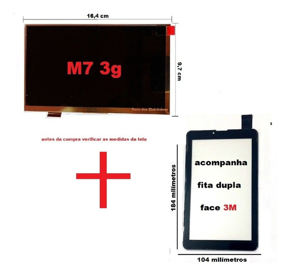 2 Display + 2 Touch Lcd Tablet Multilaser M7 3g Quad Core