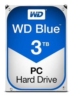 Disco Duro Wd Blue 3.5 3tb (wd30ezrz), 5400 Rpm,64mb, Sata3