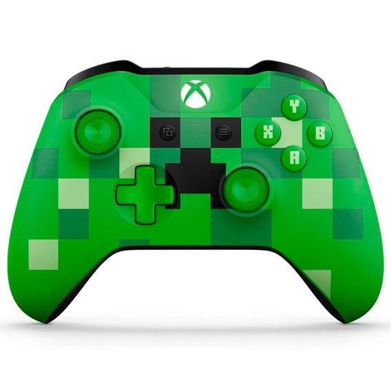 Controle Sem Fio Xbox One Minecraft Creeper