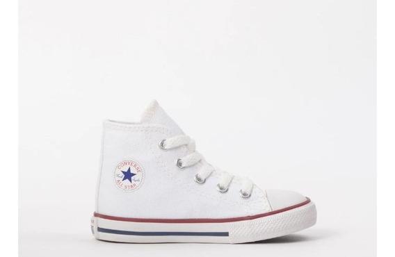 Tênis Converse All Star Kids Branco Ck00030001 Original C/nf