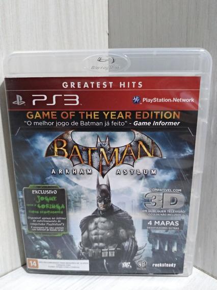 Batman Arkham Asylum Goty Ps3 Usado