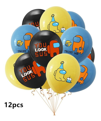 Globos Among Us X12 Latex R-12