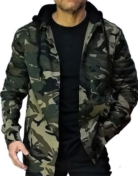 Camisa Camuflaje Con Capucha