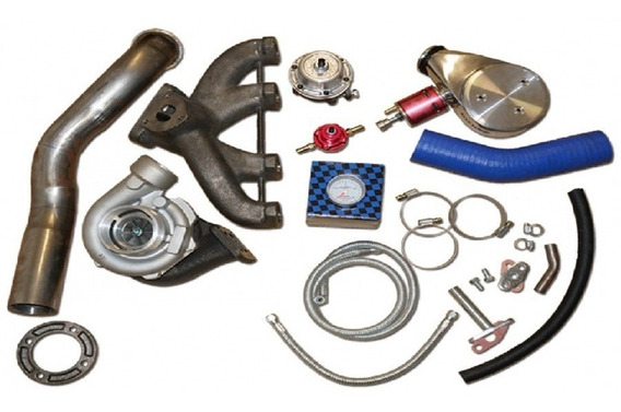 Kit Turbo Vw Ap Pulsativo Carburado + Turbina .50 Zr Turbo