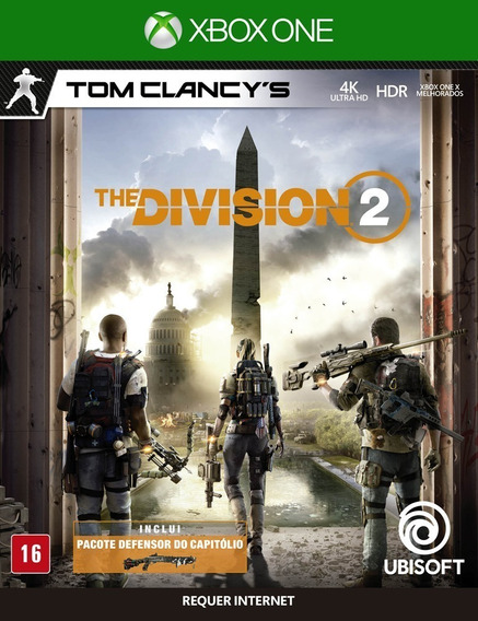 The Division 2 Xbox One Mídia Física Novo Lacrado