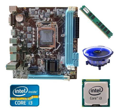 Imagem 1 de 5 de Kit Upgrade Gamer Intel I3/ H61/ 4gb Ram/ Cooler Led/ Oferta